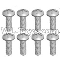 Wltoys 12429 Parts-0155-01 12428.0101 Cross recessed pan head screws(8PCS)-M2.5X8 PM,Wltoys 12429 1/12 RC Car Parts