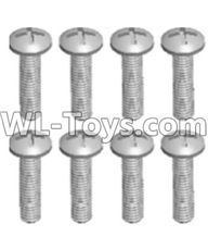 Wltoys 12429 Parts-0155-02 12428.0102 Cross recessed pan head screws(8PCS)-M2.5X10 PM,Wltoys 12429 1/12 RC Car Parts