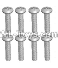 Wltoys 12429 Parts-0155-03 12428.0103 Cross recessed pan head screws(8PCS)-M2.5X12 PM,Wltoys 12429 1/12 RC Car Parts