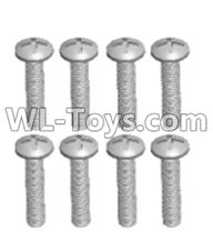Wltoys 12429 Parts-0155-04 12428.0104 Cross recessed pan head screws(8PCS)-M2.5X14 PM,Wltoys 12429 1/12 RC Car Parts