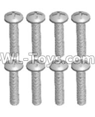 Wltoys 12429 Parts-0155-05 12428.0105 Cross recessed pan head screws(8PCS)-M2.5X16 PM,Wltoys 12429 1/12 RC Car Parts
