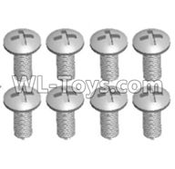 Wltoys 12429 Parts-0155-06 12428.0107 Cross recessed pan head screws(8PCS)-M4X12 PM,Wltoys 12429 1/12 RC Car Parts
