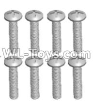 Wltoys 12429 Parts-0155-07 12428.0106 Cross recessed pan head screws(8PCS)-M2.5X20 PM,Wltoys 12429 1/12 RC Car Parts