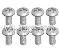 Wltoys 12429 Parts-0155-08 12428.0108 Cross recessed pan head screws(8PCS)-M3X7 PM,Wltoys 12429 1/12 RC Car Parts