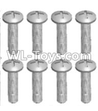 Wltoys 12429 Parts-0155-09 12428.0109 Cross recessed pan head screws(8PCS)-M2X8 PM,Wltoys 12429 1/12 RC Car Parts