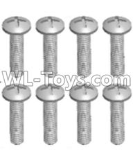 Wltoys 12429 Parts-0155-10 Cross recessed pan head screws(8PCS)-M2X10 PM,Wltoys 12429 1/12 RC Car Parts
