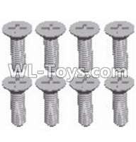 Wltoys 12429 Parts-0155-13 Cross recessed Flat head screws(8PCS)-M2.5X6 KM,Wltoys 12429 1/12 RC Car Parts