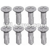 Wltoys 12429 Parts-0155-14 Cross recessed Flat head screws(8PCS)-M2.5X8 KM,Wltoys 12429 1/12 RC Car Parts