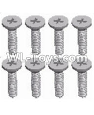 Wltoys 12429 Parts-0155-16 Cross recessed Flat head screws(8PCS)-M2X8 KM,Wltoys 12429 1/12 RC Car Parts