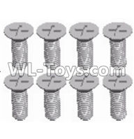 Wltoys 12429 Parts-0155-17 Cross recessed Flat head screws(8PCS)-M3X8 KM,Wltoys 12429 1/12 RC Car Parts