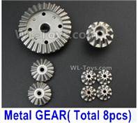 Wltoys 14401 Parts-Whole Metal Kit-(Metal gear,total 8pcs),Wltoys 14401 1/14 Parts,Wltoys 14401 RC Car Parts