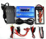 40-01 Upgrade Charger unit,Can charger 2s or 3s 6x battery at the same time(Power & B6 Charger & 1-To-6 Parallel charging Board),Wltoys 14401 1/14 Parts,Wltoys 14401 RC Car Parts