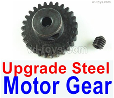 Wltoys 14401 Parts-Upgrade Steel motor Gear(1pcs)-0.7 Modulus-Black-27 Teeth,Wltoys 14401 1/14 Parts,Wltoys 14401 RC Car Parts