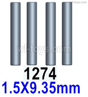 Wltoys 14401 Parts-Cardan shaft(4pcs)-1.5x9.35mm-14401.1274,Wltoys 14401 1/14 Parts,Wltoys 14401 RC Car Parts