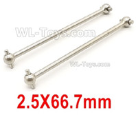 Wltoys 14401 Parts-Dog Bone(2pcs)-2.5x66.7mm-14401.1281,Wltoys 14401 1/14 Parts,Wltoys 14401 RC Car Parts
