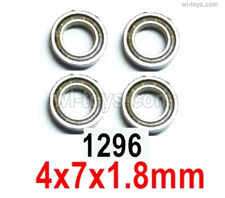 Wltoys 14401 Parts-Ball bearing 4X7X1.8mm-4pcs-14401.1296,Wltoys 14401 1/14 Parts,Wltoys 14401 RC Car Parts