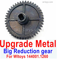 Wltoys 144001 Upgrade Parts Metal Steel Reduction gear. For Wltoys 144001.1260. It is perfectly suitable for the 144001 RC Racing Car.