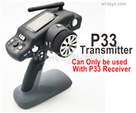 Wltoys 144001 Upgrade P33 Transmitter, Remote Control.