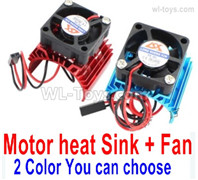 Wltoys 144001 Upgrade Parts Motor Heat Sink + Fan. Two colors you can choose.