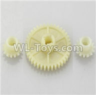 Wltoys 18401 Reduction gear with 2 small gear-A949-24,Wltoys 18401 RC Crawler Car Spare Parts Replacement Accessories,1:18 18401 6wd rc rock racing car Parts,On Road Drift Racing Truck Car Parts