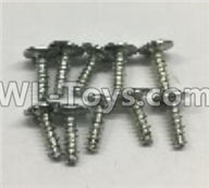 Wltoys 18401 Round Head self tapping screws with tape(M3x10PWA)-10pcs-0918,Wltoys 18401 RC Crawler Car Spare Parts Replacement Accessories,1:18 18401 6wd rc rock racing car Parts,On Road Drift Racing Truck Car Parts