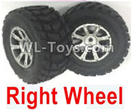 Wltoys 18403 Parts-Whole Right wheel unit(Include the Wheel hub,tire lether)-2 set,Wltoys 18403 RC Crawler Car Spare Parts Replacement Accessories,1:18 18403 4wd rc rock racing car Parts,On Road Drift Racing Truck Car Parts