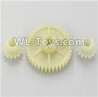Wltoys 18403 Spare Parts-23 A949-24 Reduction gear with 2 small gear,Wltoys 18403 RC Crawler Car Spare Parts Replacement Accessories,1:18 18403 4wd rc rock racing car Parts,On Road Drift Racing Truck Car Parts