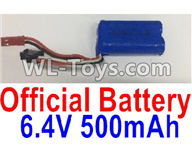 Wltoys 18403 Parts-Battery,6.4V 500mAh battery(1pcs),Wltoys 18403 RC Crawler Car Spare Parts Replacement Accessories,1:18 18403 4wd rc rock racing car Parts,On Road Drift Racing Truck Car Parts