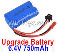Wltoys 18403 Parts-Upgrade Battery,6.4V 750mAh battery(1pcs)-52X32X16mm,Wltoys 18403 RC Crawler Car Spare Parts Replacement Accessories,1:18 18403 4wd rc rock racing car Parts,On Road Drift Racing Truck Car Parts