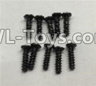 Wltoys 18403 Parts-A949-39 Round Head self tapping screws(M2x7)-10pcs,Wltoys 18403 RC Crawler Car Spare Parts Replacement Accessories,1:18 18403 4wd rc rock racing car Parts,On Road Drift Racing Truck Car Parts
