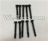 Wltoys 18403 Parts-A949-41 Round Head self tapping screws(M2x16)-10pcs,Wltoys 18403 RC Crawler Car Spare Parts Replacement Accessories,1:18 18403 4wd rc rock racing car Parts,On Road Drift Racing Truck Car Parts
