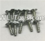 Wltoys 18403 Parts-Round Head self tapping screws with tape(M3x10PWA)-10pcs,Wltoys 18403 RC Crawler Car Spare Parts Replacement Accessories,1:18 18403 4wd rc rock racing car Parts,On Road Drift Racing Truck Car Parts
