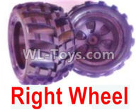 Wltoys 18405 Parts-Whole Right wheel unit(Include the Wheel hub,tire lether)-2 set,Wltoys 18405 RC Crawler Car Spare Parts Replacement Accessories,1:18 18405 4wd RC rock racing car Parts,On Road Drift Racing Truck Car Parts