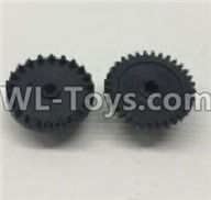 Wltoys 18405 Parts-The first and The second level gear(Total 2pcs),Wltoys 18405 RC Crawler Car Spare Parts Replacement Accessories,1:18 18405 4wd RC rock racing car Parts,On Road Drift Racing Truck Car Parts