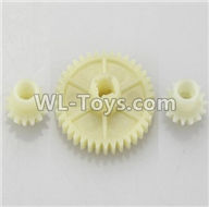 Wltoys 18405 Parts-A949-24 Reduction gear with 2 small gear,Wltoys 18405 RC Crawler Car Spare Parts Replacement Accessories,1:18 18405 4wd RC rock racing car Parts,On Road Drift Racing Truck Car Parts