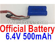 Wltoys 18405 Parts-Battery,6.4V 500mAh battery(1pcs),Wltoys 18405 RC Crawler Car Spare Parts Replacement Accessories,1:18 18405 4wd RC rock racing car Parts,On Road Drift Racing Truck Car Parts