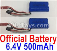 Wltoys 18405 Parts-Lipo Batteries,6.4V 500mAh battery(2pcs),Wltoys 18405 RC Crawler Car Spare Parts Replacement Accessories,1:18 18405 4wd RC rock racing car Parts,On Road Drift Racing Truck Car Parts