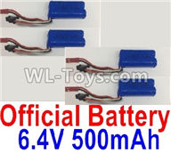 Wltoys 18405 Parts-RC Battery,6.4V 500mAh battery(4pcs),Wltoys 18405 RC Crawler Car Spare Parts Replacement Accessories,1:18 18405 4wd RC rock racing car Parts,On Road Drift Racing Truck Car Parts