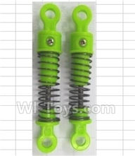 Wltoys 18428-B Parts-Front Or Rear Shock Absorbers(Total 2pcs)-Green,Wltoys 18428-B RC Car Spare Parts Replacement Accessories,1:18 Scale 4wd,2.4G 18428-B RC racing car Parts,On Road Drift Racing Truck Car Parts