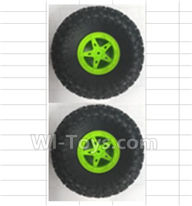 Wltoys 18428-B Parts-Wheel unit(2pcs)-Green,Wltoys 18428-B RC Car Spare Parts Replacement Accessories,1:18 Scale 4wd,2.4G 18428-B RC racing car Parts,On Road Drift Racing Truck Car Parts