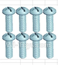 Wltoys 18428-B Parts-Pan head screws(8pcs)-M2.3X8,Wltoys 18428-B RC Car Spare Parts Replacement Accessories,1:18 Scale 4wd,2.4G 18428-B RC racing car Parts,On Road Drift Racing Truck Car Parts