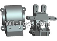 Wltoys 18429 Parts-Front and rear gearbox,Wltoys 18429 RC Car Spare Parts Replacement Accessories,1:18 Scale 4wd,2.4G 18429 rc racing car Parts,On Road Drift Racing Truck Car Parts