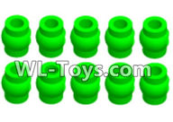 Wltoys 18429 Parts-Green Ball-head unit(10pcs),Wltoys 18429 RC Car Spare Parts Replacement Accessories,1:18 Scale 4wd,2.4G 18429 rc racing car Parts,On Road Drift Racing Truck Car Parts