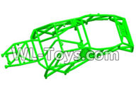 Wltoys 18429 Parts-Car skeleton components,Car frame unit-Green,Wltoys 18429 RC Car Spare Parts Replacement Accessories,1:18 Scale 4wd,2.4G 18429 rc racing car Parts,On Road Drift Racing Truck Car Parts