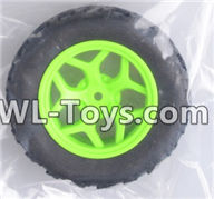Wltoys 18429 Parts-Whole wheel unit(1 set)-Green,Wltoys 18429 RC Car Spare Parts Replacement Accessories,1:18 Scale 4wd,2.4G 18429 rc racing car Parts,On Road Drift Racing Truck Car Parts