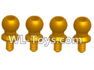 Wltoys 18429 Parts-Ball-head Screw Assembly (4.5X9.2)-4pcs,Wltoys 18429 RC Car Spare Parts Replacement Accessories,1:18 Scale 4wd,2.4G 18429 rc racing car Parts,On Road Drift Racing Truck Car Parts