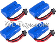 Wltoys 18429 Parts-RC Lipo Battery Upgrade 6.4v 800mah Battery(4pcs),Wltoys 18429 RC Car Spare Parts Replacement Accessories,1:18 Scale 4wd,2.4G 18429 rc racing car Parts,On Road Drift Racing Truck Car Parts