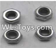 Wltoys 18429 Spare Parts-80-05 A929-96 M2.5 lock nut group(4pcs),Wltoys 18429 RC Car Spare Parts Replacement Accessories,1:18 Scale 4wd,2.4G 18429 rc racing car Parts,On Road Drift Racing Truck Car Parts