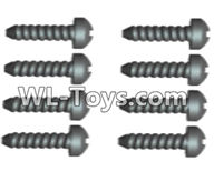 Wltoys 18429 Parts-Phillips pan head screws-2X12 PM(8pcs),Wltoys 18429 RC Car Spare Parts Replacement Accessories,1:18 Scale 4wd,2.4G 18429 rc racing car Parts,On Road Drift Racing Truck Car Parts