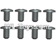Wltoys 18429 Parts-Phillips pan head screws-ST1.7X4PB(8pcs),Wltoys 18429 RC Car Spare Parts Replacement Accessories,1:18 Scale 4wd,2.4G 18429 rc racing car Parts,On Road Drift Racing Truck Car Parts